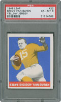 Football Cards:Singles (Pre-1950), 1948 Leaf Steve Van Buren #22 PSA EX-MT 6 - Yellow JerseyVariation....