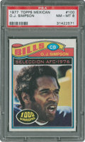 Football Cards:Singles (1970-Now), 1977 Topps Mexican O.J. Simpson #100 PSA NM-MT 8....