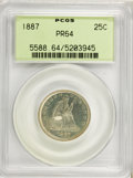 Proof Seated Quarters, 1887 25C PR64 PCGS....