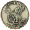 Transportation:Space Exploration, Apollo 11 Flown Silver Robbins Medallion Originally from the Personal Collection of Mission CapCom Ron Evans, Serial Number 15...