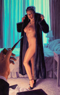 Pin-up and Glamour Art, GREG HILDEBRANDT (American, b. 1939). Rendezvous at theEmpire. Acrylic on board. 38 x 24 in.. Not signed. ...