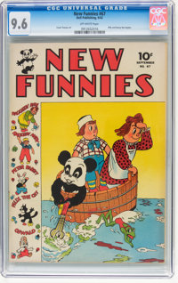 New Funnies #67 (Dell, 1942) CGC NM+ 9.6 Off-white pages