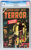 Golden Age (1938-1955):Horror, Adventures Into Terror #27 (Atlas, 1954) CGC FN/VF 7.0 Cream tooff-white pages....