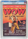 Platinum Age (1897-1937):Miscellaneous, Wow Comics #2 Lost Valley pedigree (Henle, 1936) CGC VF 8.0 Off-white to white pages....