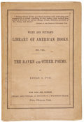 Books:First Editions, Edgar Allan Poe. The Raven and Other Poems. New York: Wileyand Putnam, 1845.. First edition. One of 750 copie...