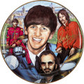 Music Memorabilia:Autographs and Signed Items, Beatles Related - Ringo Starr Signed Collectors Plate....