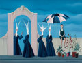 Impressionism & Modernism:Surrealism, CARLO CANEVARI (Italian, 1922-1996). Untitled (Nuns at theGate). Oil on panel. 12-3/4 x 16-1/2 inches (32.4 x 41.9 cm)...