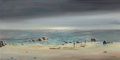 Impressionism & Modernism:Surrealism, JOHN J. STANCIN (European, 20th Century). Untitled(Seascape). Oil on canvas. 15 x 30 inches (38.1 x 76.2 cm).Signed lo...