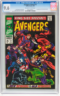 The Avengers Annual #2 (Marvel, 1968) CGC NM+ 9.6 Off-white to white pages