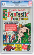 Silver Age (1956-1969):Superhero, Fantastic Four Annual #1 (Marvel, 1963) CGC NM 9.4 Off-whitepages....
