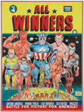Original Comic Art:Covers, Murphy Anderson All-Winners Comics #4 CoverRe-Creation Original Art (undated)....