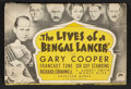 "Movie Posters:Adventure, The Lives of a Bengal Lancer (Paramount, 1935). Promotional Item(4.25"" X 6.25"") Adventure.. ..."