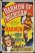 "Movie Posters:Sports, Harmon of Michigan (Columbia, 1941). One Sheet (27"" X 41""). Sports.. ..."