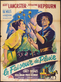 "The Rainmaker (Paramount, 1956). French Grande (47"" X 63""). Romance"