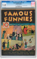 Platinum Age (1897-1937):Miscellaneous, Famous Funnies Series 1 #1 (Eastern Color, 1934) CGC FR 1.0 Lighttan to off-white pages....