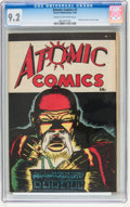 Golden Age (1938-1955):Crime, Atomic Comics #1 (Green Publishing Co., 1946) CGC NM- 9.2 Cream to off-white pages....