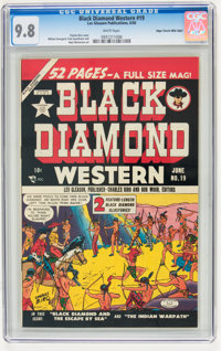 Black Diamond Western #19 Mile High pedigree (Lev Gleason, 1950) CGC NM/MT 9.8 White pages