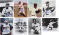 Baseball Collectibles:Photos, Negro Leaguers Signed Photograph Lot of 8....