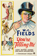 "Movie Posters:Comedy, You're Telling Me (Paramount, 1934). One Sheet (27"" X 41"") StyleA.. ..."