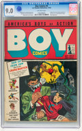 Golden Age (1938-1955):Crime, Boy Comics #6 (Lev Gleason, 1942) CGC VF/NM 9.0 Off-white pages....