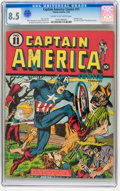 Golden Age (1938-1955):Superhero, Captain America Comics #11 (Timely, 1942) CGC VF+ 8.5 Cream to off-white pages....