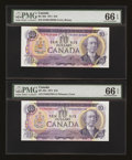 Canadian Currency: , BC-49d $10 1971 and BC-49e $10 1971.. ... (Total: 2 notes)