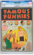 Platinum Age (1897-1937):Miscellaneous, Famous Funnies #3 (Eastern Color, 1934) CGC GD/VG 3.0 Light tan tooff-white pages....