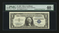 Error Notes:Doubled Third Printing, Fr. 1619 $1 1957 Silver Certificate. PMG Extremely Fine 40 EPQ.....
