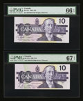 Canadian Currency: , BC-57b $10 1989 and BC-57c $10 1989.. ... (Total: 2 notes)