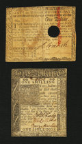 Colonial Notes:Mixed Colonies, Mixed Colonials - Delaware and Massachusetts.. ... (Total: 2 notes)