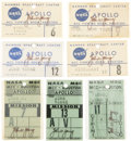 Transportation:Space Exploration, Gemini 11 - Apollo 13: Seven NASA Mission Control Center BadgesDirectly from the Personal Collection of Astronaut John Young,...(Total: 7 Items)