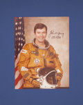 Autographs:Celebrities, John Young Signed STS-1 Color Portrait Photo Directly from his Personal Collection....