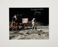 Autographs:Celebrities, Apollo 16 Large Color Photo Directly from the Personal Collectionof Mission Commander John Young, Signed and Certified....