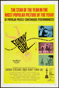 "Funny Girl (Columbia, 1969). One Sheet (27"" X 41""). Musical"