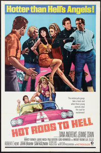 """Hot Rods to Hell (MGM, 1967). One Sheet (27"""" X 41""""). Cult Classic"""