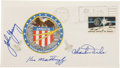 Autographs:Celebrities, Apollo 16 Crew-Signed Insurance Cover Directly from the PersonalCollection of Mission Commander John Young, Signed and Certif...
