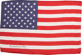 Transportation:Space Exploration, Apollo 16 Flown Large-Size American Flag Directly from the PersonalCollection of Mission Commander John Young, Signed and Cer...