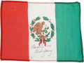 Transportation:Space Exploration, Gemini 10 Flown Flag of Mexico Directly from the Personal Collection of Mission Commander John Young, Signed and Certified....