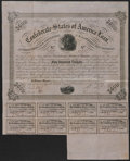 Confederate Notes:Group Lots, Ball 220 Cr. 121A $500 1863 Bond Fine-Very Fine. . ...