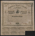 Confederate Notes:Group Lots, Ball 241 Cr. 126 Bond $1000 1863 Fine-Very Fine.. ...