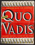 "Movie Posters:Historical Drama, Quo Vadis Lot (MGM, 1951). Pressbook (17"" x 22"")(Multiple Pages)and Window Card (14"" X 22""). Historical Drama.. ... (Total: 2Items)"