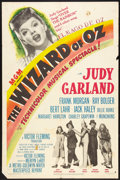 "Movie Posters:Fantasy, The Wizard of Oz (MGM, R-1949). One Sheet (27"" X 41""). Fantasy.. ..."