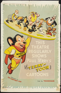 """Terry-Toon Stock Poster (20th Century Fox, 1955). One Sheet (27"""" X 41""""). Animated"""