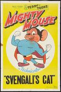 "Movie Posters:Animated, Mighty Mouse Stock (20th Century Fox, 1946). One Sheet (27"" X 41"")""Svengali's Cat."" Animated.. ..."