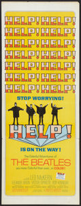 "Movie Posters:Rock and Roll, Help! (United Artists, 1965). Insert (14"" X 36""). Rock and Roll....."