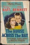 """Movie Posters:Crime, The House Across the Bay (United Artists, 1940). One Sheet (27"""" X 41""""). Crime.. ..."""