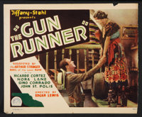 """The Gun Runner Lot (Tiffany, 1928). Title Lobby Card and Lobby Card (11"""" X 13.5""""), and Stills (7) (8"""" X 1..."""
