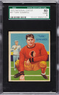 Football Cards:Singles (Pre-1950), 1935 National Chicle Turk Edwards #11 SGC 80 EX/NM 6....
