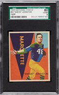 Football Cards:Singles (Pre-1950), 1935 National Chicle Chester Johnston #32 SGC 80 EX/NM 6....