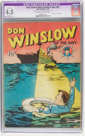 Golden Age (1938-1955):Adventure, Four Color (Series One) #2 Don Winslow of the Navy (#1) (Dell, 1939) CGC Apparent VG+ 4.5 Slight (P) Cream to off-white pa...